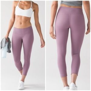LULULEMON Wunder Under Crop III Dusty Mauve {H38}